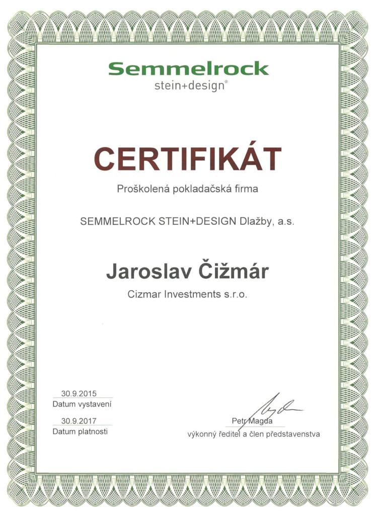 CERTIFIKÁT Semmelrock